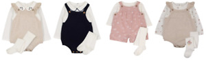 KNITTED ROMPER SETS, CORD BIBSHORTS WITH CREAM BODYSUIT & TIGHTS OR SOCKS - New
