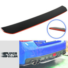 Rear Diffuser Spoiler Wing Painted & Red Line For Subaru WRX 4th STI 4DR