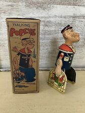 Original 1930's Marx Popeye Carrying Parrots Tin Litho Toy With Original Box. C9