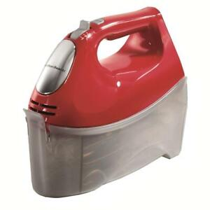 Ensemble 6-Speed Red Hand Mixer with Snap-On Case Limited Version
