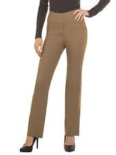 Red Hanger Womens Bootcut Stretch Dress Pants - Comfy Pull on Style Taupe Small