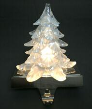 Stocking Holder Light Up Tree Christmas Holiday Shiny Chrome Like Base Hanger