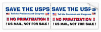 Save The Post Office - Good Ole Protest Bumpersticker-TWO-F0R-ONE -