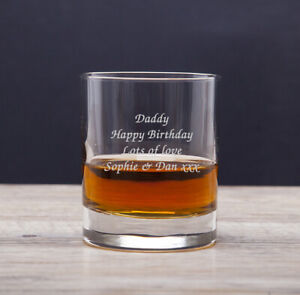 Personalised Engraved Bacardi Rum and & Coke Glass Texts Tumbler Birthday Gifts