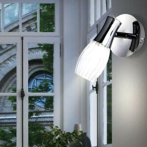 LED Lumière Murale Chrome Chambre à Coucher Lampe Spot Mobile Diamètre 10cm Wofi