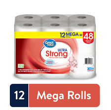 Great Value Ultra Strong Toilet Paper, 12 Mega Rolls