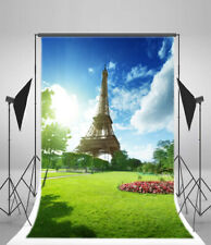 Eiffel Tower Scenery Studio Photo Background 5x7ft Photography Props Backdrop