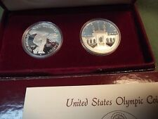 2pc 1983S & 1984S Olympic commemorative proof silver Dollars 1983 S 1984 S #1