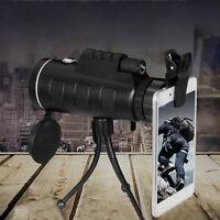 40X60 portable HD optique BaK4 vision nocturne télescope monoculaire 9H
