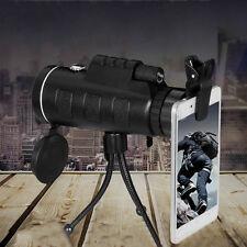 New High Power 40X60 Portable HD OPTICS BAK4 Night Vision Monocular Telescope KL