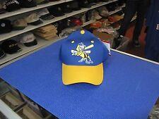 New listing MiLB-BURLINGTON BEES-BLUE CAP/YELLOW BILL W/ TEAM LOGO ON FRONT- SNAP ADJ