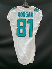 #81 DREW MORGAN MIAMI DOLPHINS GAME USED AUTHENTIC NIKE JERSEY *SEE SCUFF*