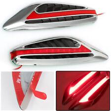 2X Universal Red Blade Car Steering Light Led Turn Signal Fender Side Lights