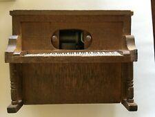 "Vintage Wooden ""Mini Land"" Player Piano Music Box Joplin's ""The Entertainer�"