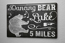 Tin Sign Bar Party Wall Decoration Dancing Bear Metal Plate