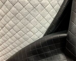 Diamond Quilted Faux Leather Fabric HIGH GRADE Clothing Outdoor Jackets Pet Beds
