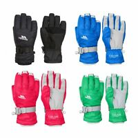 Trespass Simms Waterproof Kids Ski Gloves in Black Blue Purple & Green