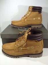 TIMBERLAND Mens 7 Eye Moc Toe Wheat Leather Ankle Boots Shoes Size 8 ZJ-622