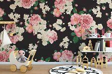 Original wall deco Mural sticker children's room nursery DAYCARE flower pattern