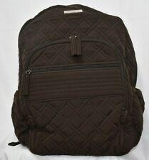 Vera Bradley ESPRESSO Campus Backpack Bag Brown Microfiber School NWOT