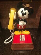 VINTAGE 70'S WALT DISNEY - MICKEY MOUSE TELEPHONE - WORKING