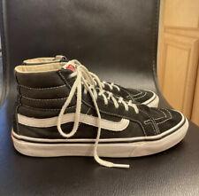 Vans Old Skool Black Suede Canvas High Top Skate Shoes Mens Sz 6.5 Women's Sz 8