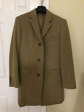 JCREW mens ludlow topcoat size 36s camel brown (j.crew men) thinsulate