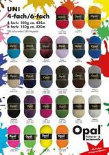 Sonderposten 100 g Opal uni 4 fach Sockenwolle Strumpfwolle stricken