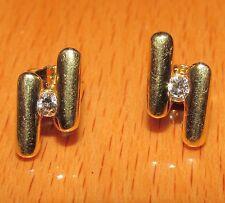BELLO 18ct oro giallo Orecchini a lobo con diamante per buchi alle orecchie