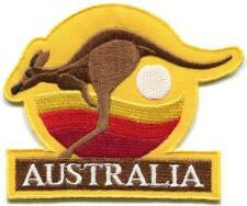 Australia kangaroo logo Oz Down Under embroidered applique iron-on patch S-1424