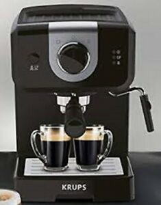 Krups XP320840 Opio Steam and Pump Coffee Machine, Black