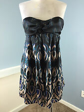 Ted Baker XS 1 London Strapless Dress Silk Mini Cocktail Party