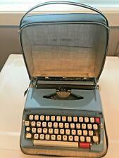 Vintage Blue Brother Webster Portable Manual Typewriter  Made in Japan