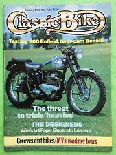 Clásico MOTO - ENERO 1983 - 250cc BENELLI Individual - Royal Enfield -