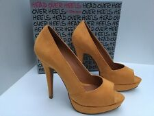 Head Over Heels By Dune Yellow Peep Toe Court Shoes UK 6 *BNWB*