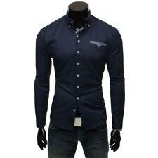 Camisas y polos de hombre de manga larga en azul talla L