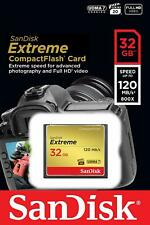 SanDisk® Extreme 32GB CompactFlash® Card Speed up to 120MB/s 800x 4K Full HD CF