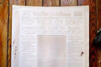 RARE 1969 New York Times Apollo 11 Moon Landing FRONT PAGE original flong plate