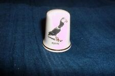 Fingerhut aus Porzellan Papageientaucher Isle of Mull Scotland Bone China