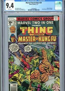 Marvel Two-In-One #29 CGC 9.4 WP Thing Shang-Chi Marvel Comics 1977