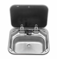 SMEV - VA8005 SINK WITH GLASS LID AND COLD WATER TAP VW T4 T5 T6 CAMPERVAN