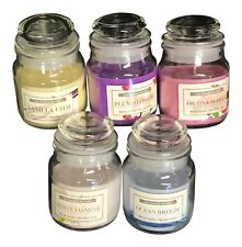 PACK OF 5 MINI 8 cm GLASS BELL JAR SCENTED WAX CANDLES ASSORTED SMELLS GIFT SET