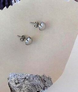 Men's Trendy Round Shape White Gold Color Titanium Hip Hop Fashion Stud Earrings