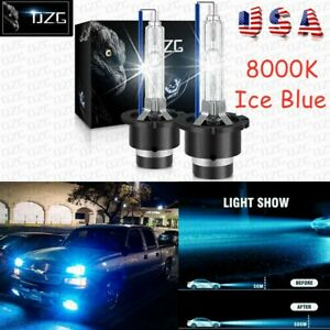 2*D4S 8000K HID Xenon Bulbs D4C D4R 35W Headlight Head Lamp Replacement Ice Blue