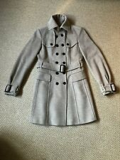 BURBERRY London Cashmere and Wool Trench Coat, Size UK 10