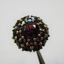 1492 - Dekorativer Ring aus Gelbgold 333 mit Granat - G12