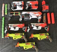 Lot Of 8 Nerf Vortex Guns + Mags / Discs - Revonix 360 Pyragon Lumitron Diatron
