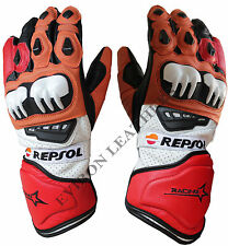 Motorcycle Leather Gloves- EV Repsol Design