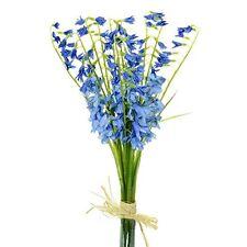 Artificial Bluebell Spring Bundle - Decorative Bluebells Spring Flowers & Plants
