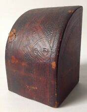 One Vintage Tooled Stamped Leather Horse Bookend Western Steel Terminal Detroit